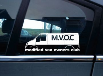 MVOC modified van owners club sticker - for Ford Transit van mk7